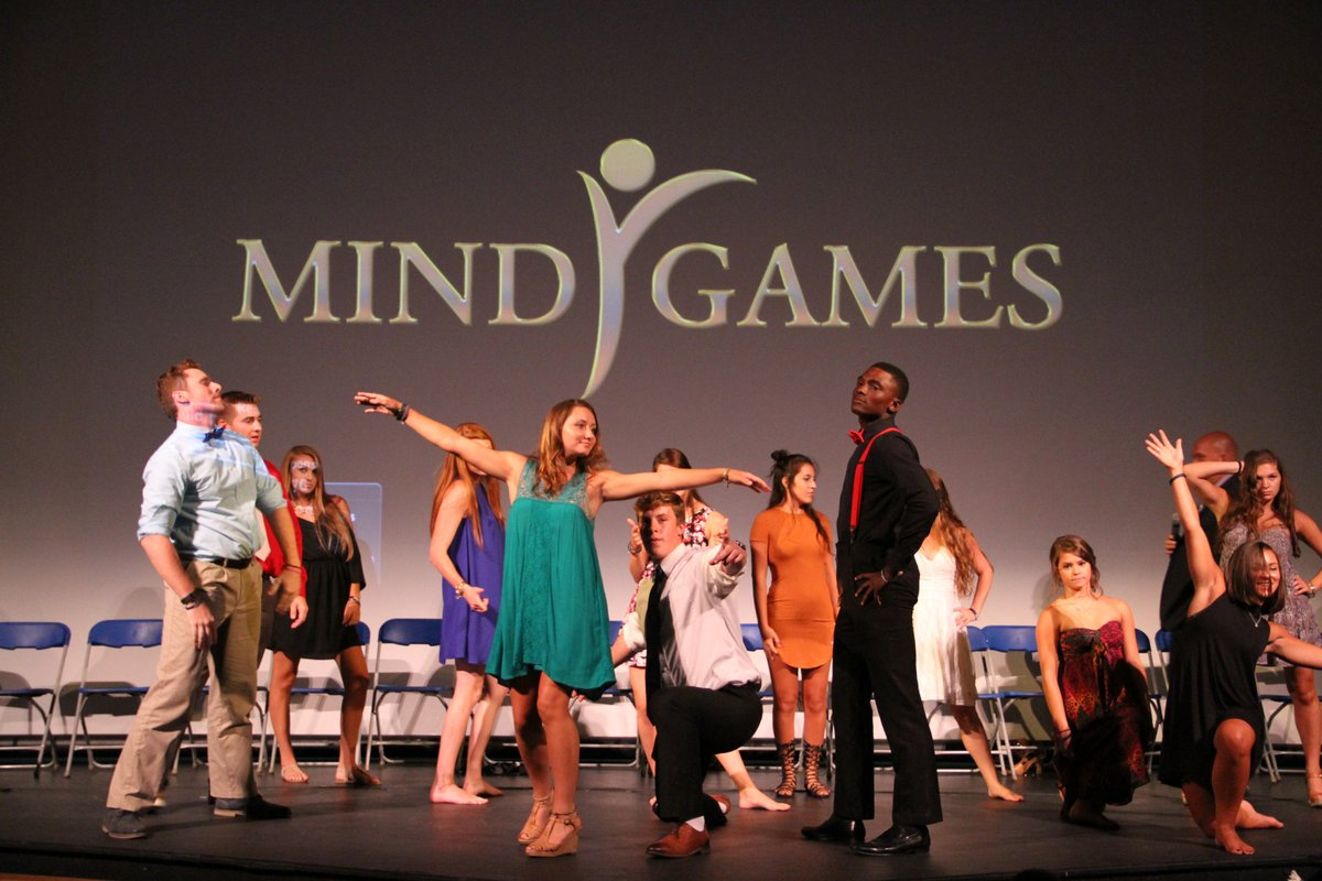College hypnosis show