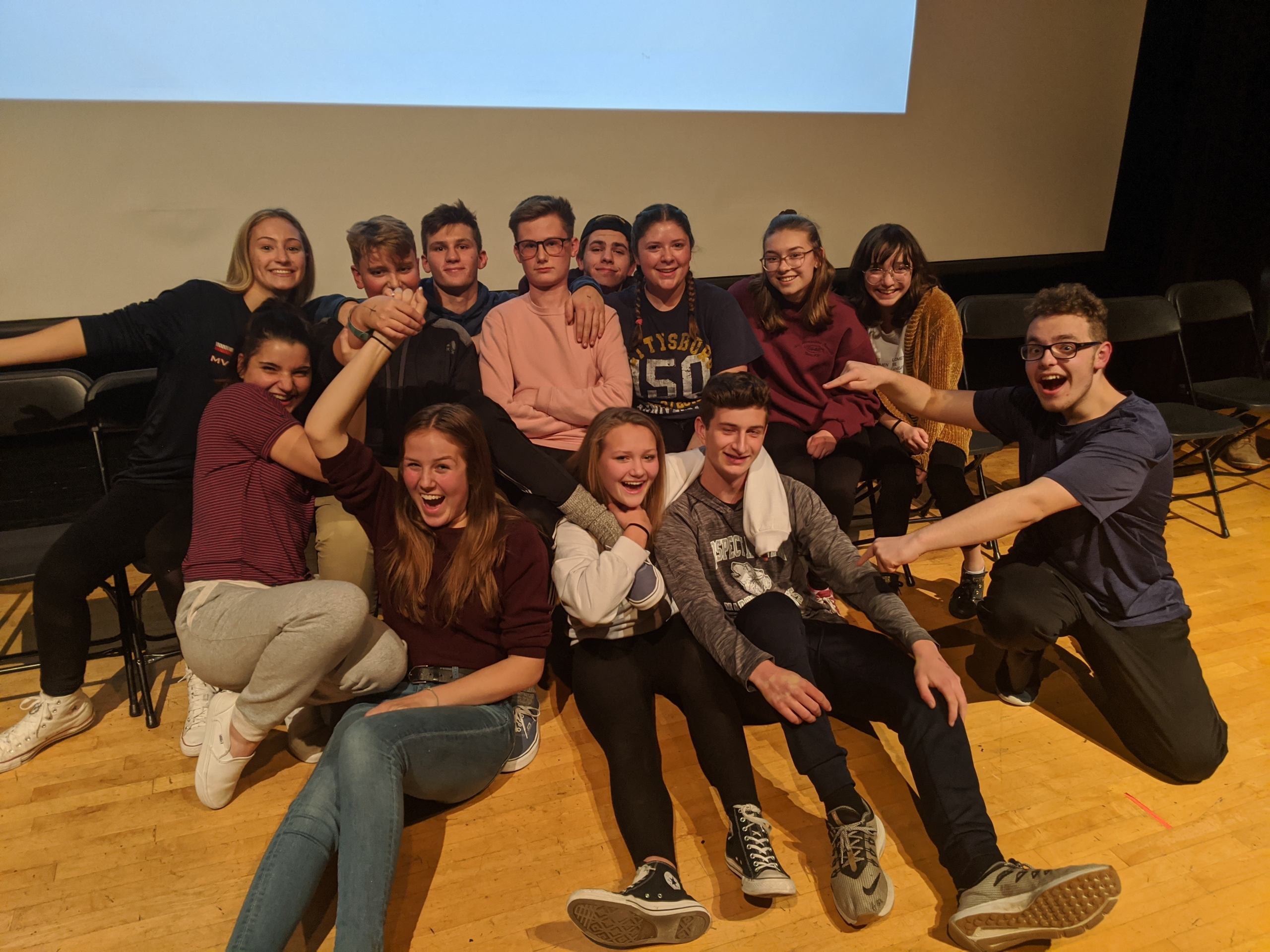 College stage hypnosis show